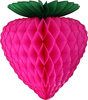 product image for 3-Pack 10 Inch Cerise Tissue Strawberry Decoration