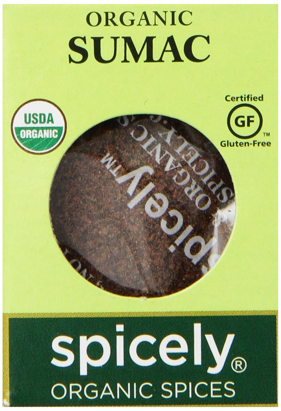 Spicely Organic Sumac Ground 0.45 Ounce ecoBox Certified Gluten Free