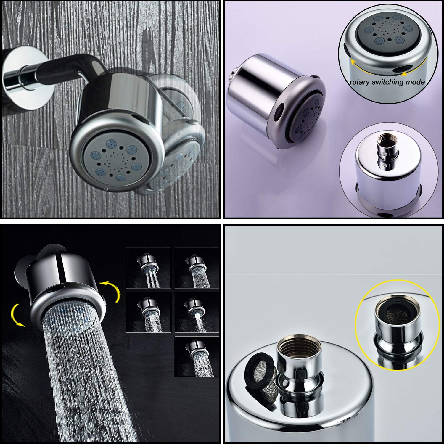 Wall Mounted Shower System Rain Shower Head /& Handheld shower head,Solid Brass Single Handle Shower Mixer Valve Control,Chrome Finished OLEAH Shower Combo Set with Tub Spout Faucet