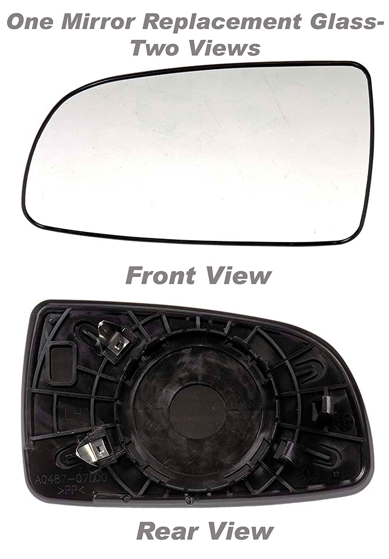 Sedan /& Aveo5 Replaces 96800781 Sedan APDTY 67103 Replacement Left Side View Mirror Glass Fits 2007-2011 Chevy Aveo Driver-Side 2007-2009 Pontiac G3 2007-2009 Suzuki Swift