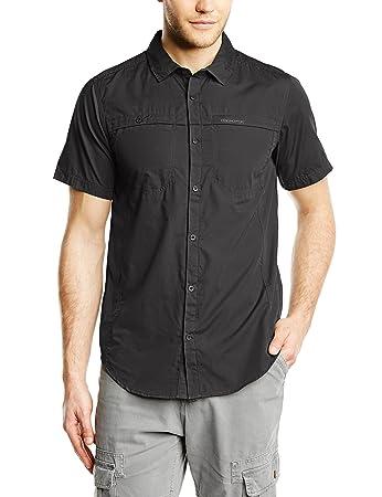 Craghoppers Men's Kiwi Trek Short Sleeve Shirt, Ashen, Small