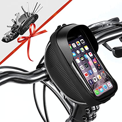 Waterproof Bicycle Moilbe Phone Frame Bag Moutain//Road Bike Touched Screen Bags~