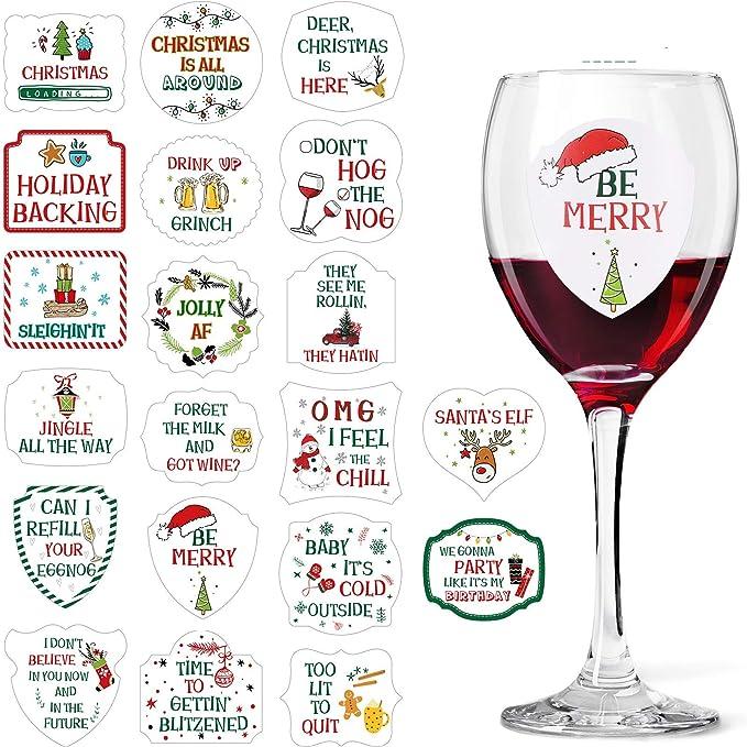 5 Wedding Role Sticker Bundle Guest Wine Champagne Glass Vinyl Stickers 3 2