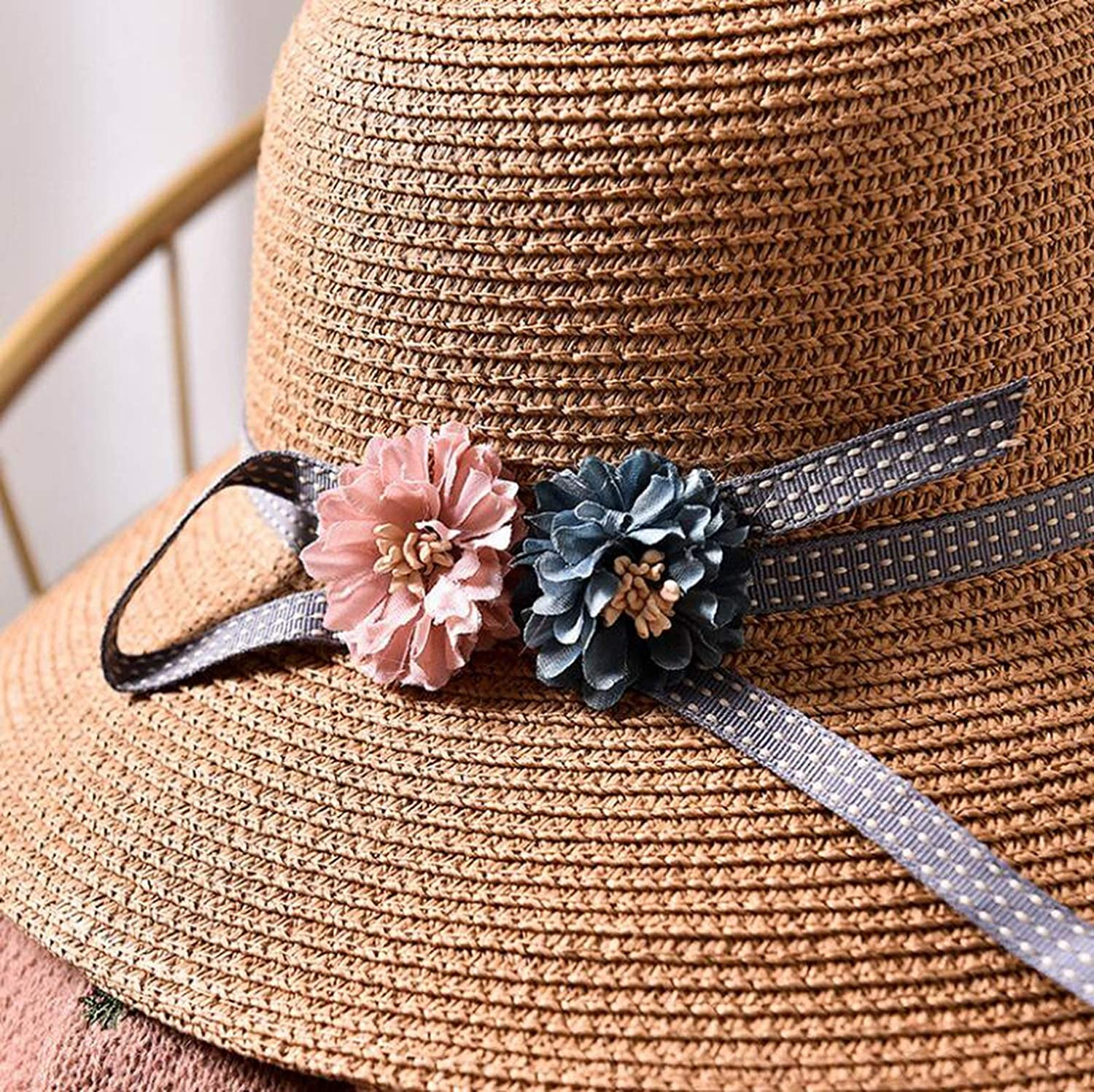 1 Pcs Children Sun Hat Spring Summer Sunscreen Women Girl Straw Hat Parent-Child Caps,3,Child Size 50-52Cm