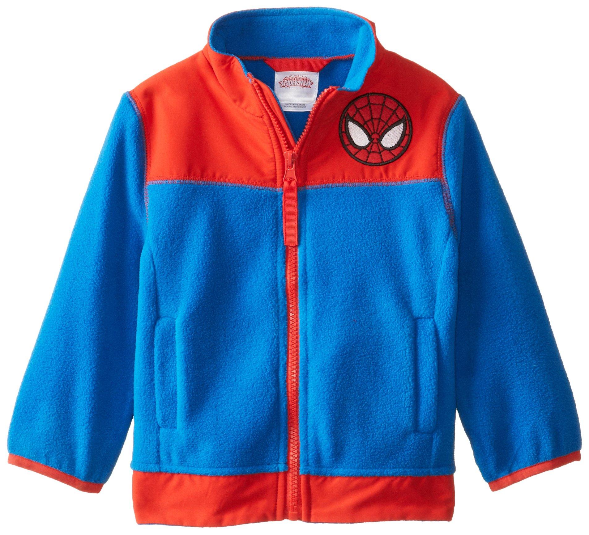 Dreamwave Little Boys' Spiderman Polar Fleece Jacket, Multi, 5T