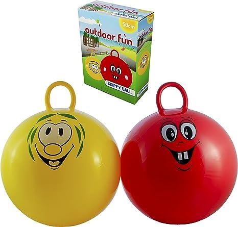 hüpfball Rojo o Amarillo para Niños Diámetro aprox. 50 cm Grande ...
