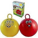 Smart Planet Ballon sauteur Rouge ou Jaune pour enfants Diamètre env. 50cm Grande balle pour s'asseoir et sauter–Pas de choix de couleur possible