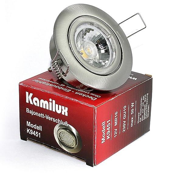 LED ohne Leuchtmittel Spots 230V KAMILUX Downlights Bajo für Halogen 12V