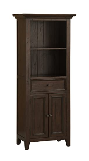 Hillsdale Furniture 4793 903W Tuscan Retreat 72u0026quot; High Open Top Display  Cabinet With 1