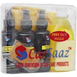 Carsaaz Car Cleaning Kit/Combo (Set of 4 Products + Cleaning Cloth)