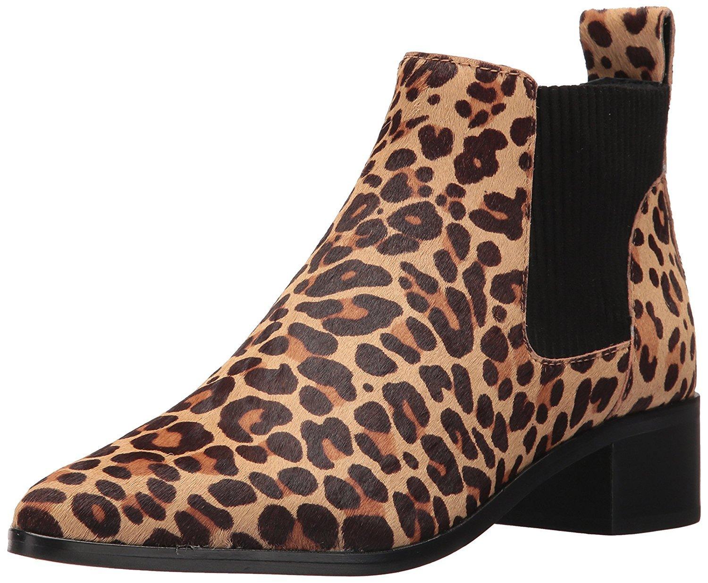 Dolce Vita Women's Macie 2 Fashion Boot, Leopard Calf Hair, 7.5 Medium US