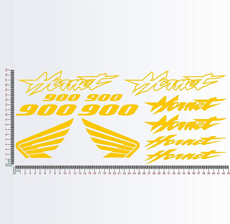 035 Orange Aufkleber-Set kompatibel mit HON HORNET 900 Motorrad Decal Code 1133