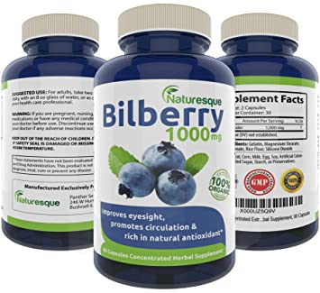 amazon com pure bilberry extract 1000mg eyesight support rich