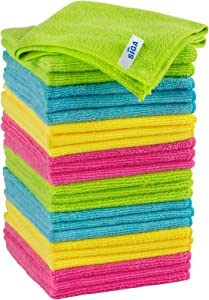 MR.SIGA Microfiber Cleaning Cloth, Pack of 24, Size:12.6
