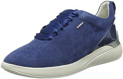 Geox Damen D Theragon A Sneaker, Schwarz (Black), 38 EU
