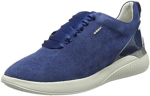 Geox D Theragon C, Zapatillas para Mujer, Azul (Denim), 40 EU