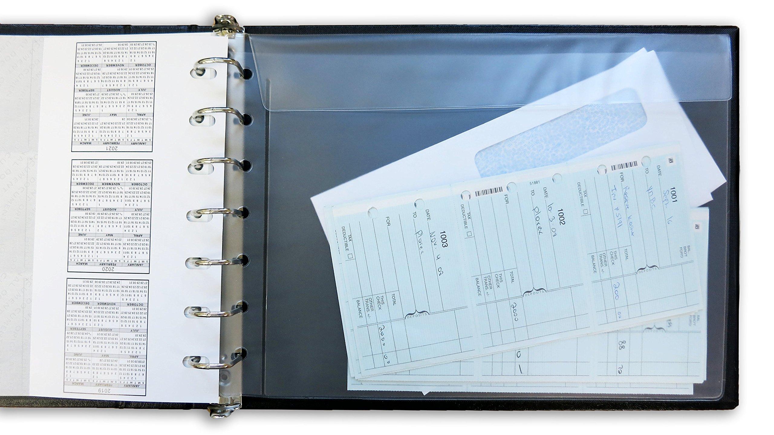 7 ring Check Binder-3 Checks Per Page-Color Black