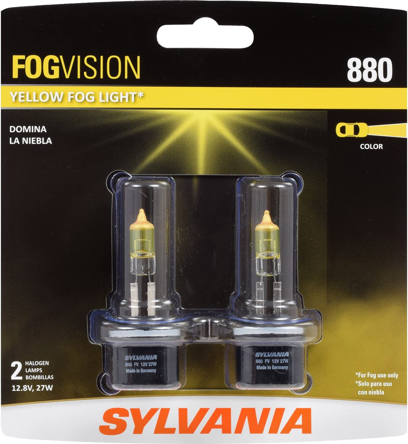 New Sylvania ZXE Fog Halogen 880 27W Two Bulbs Head Light