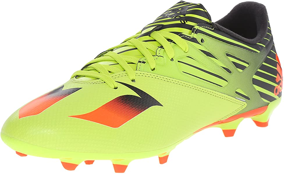 detailed look e7aa0 15566 adidas Performance Men s Messi 15.3 Soccer Shoe,Semi Solar Slime Solar  Red Black
