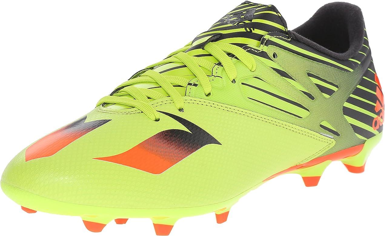 8acb96a88e adidas Performance Men's Messi 15.3 Soccer Shoe,Semi Solar Slime/Solar  Red/Black