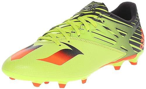 reputable site f00d5 3e460 Adidas Performance Men s Messi 15.3 Soccer Shoe,Semi Solar Slime Solar  Red Black