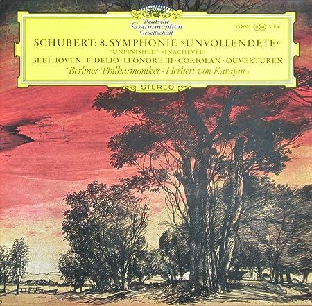 """Schubert: Symphonie Nr. 8 """"Unvollendete/Unfinished"""" / Beethoven: Fidelio - Leonore III - Coriolan (Ouvertüren) [Vinyl LP] [Schallplatte]"""