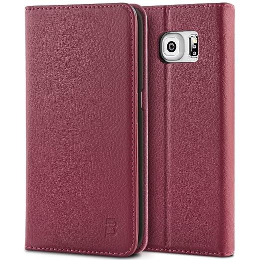 6 opinioni per Cover Samsung Galaxy S6 Edge, BEZ® Premium di cuoio del raccoglitore per Samsung