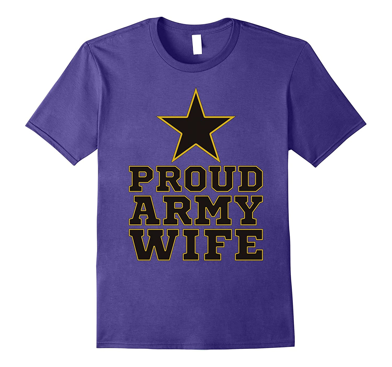 Proud Army wife pink graphic short sleeves t shirts tees-Art