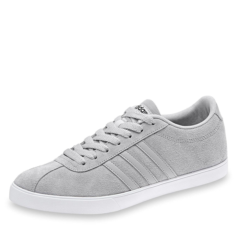 adidas Damen Courtset W Turnschuhe, Schwarz  385 EU|Grau