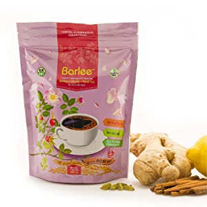 Barlee With RoseHip - Coffee Alternative Beverage Blend - Chicory Root Powder With Barley - Instant Chicory Coffee Substitute - No Sugar Caffeine Free (7.05 oz)