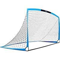 """INTEY Soccer Goal 12'x6' & 6'6"""" x 3'3"""" Portable Soccer Nets with Carry Bag for Games and Training for Kids and Teens"""