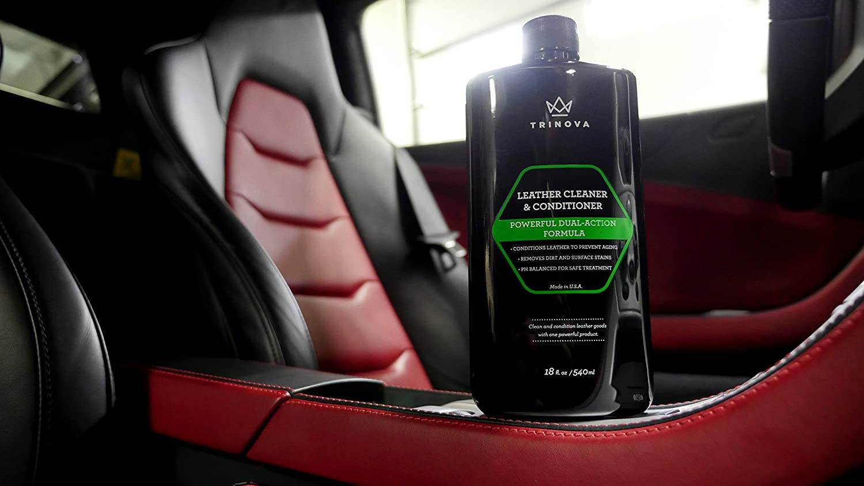 amazon com trinova leather conditioner and cleaner 18 oz 540 amazon com trinova leather conditioner and cleaner 18 oz 540 ml automotive