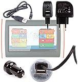 Pack / Kit de charge 3 en 1 rapide et synchronisation micro USB pour tablette tactile enfant Oregon Scientific Meep X2 (OP0118-13) – câble USB, chargeur secteur et allume-cigare (2 amp)