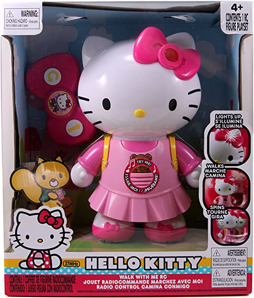 Amazon.com: Hello Kitty Walk with Me R/C Vehicle: Toys & Games