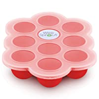WEESPROUT Silicone Baby Food Freezer Tray with Clip-on Lid by WeeSprout - Perfect...