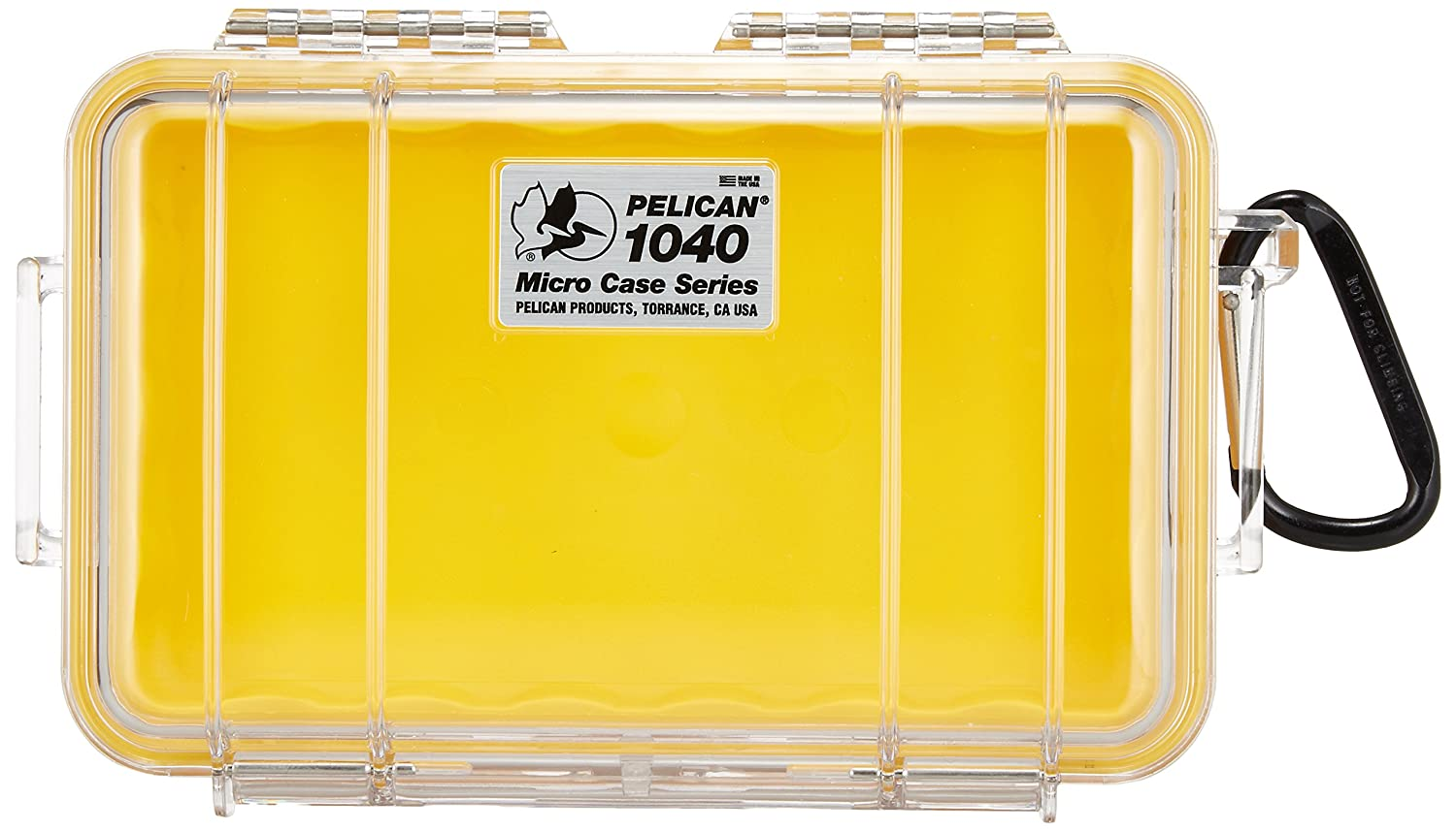 Waterproof Case | Pelican 1040 Micro Case - for iPhone, cell phone, GoPro, camera, and more (Yellow/Clear) Pelican Products Inc. 1040-027-100