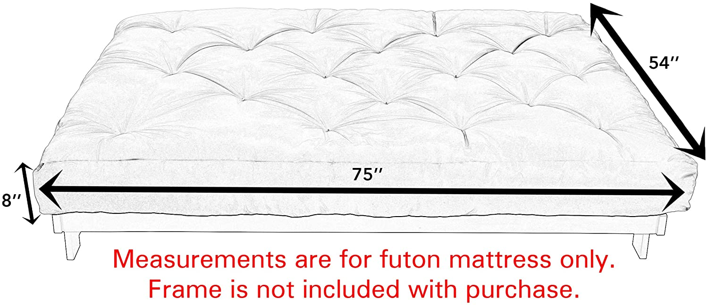 Mozaic Futon Mattress, Full, Khaki