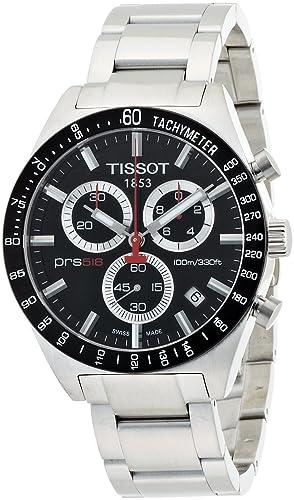 5bf03fdf53d Tissot T0444172105100 - Reloj cronógrafo de caballero de cuarzo con correa  de acero inoxidable plateada  Tissot  Amazon.es  Relojes