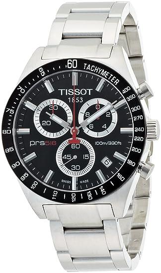 Tissot T0444172105100 - Reloj cronógrafo de caballero de cuarzo con correa de acero inoxidable plateada: Tissot: Amazon.es: Relojes