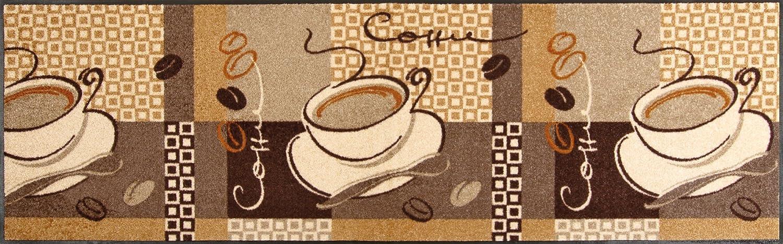Wash+dry Fußmatte Coffee 60x180 cm