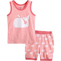 35e588ab Amazon.com: Vaenait baby 100% Cotton Kids Boys Summer Sleeveless ...