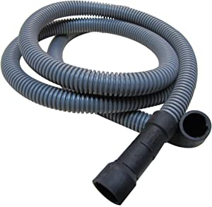 Plumb Pak PP850-12 Corrugated Dishwasher Discharge Hose with (2) Clamps, 5/8 in X 6 Ft, 6'