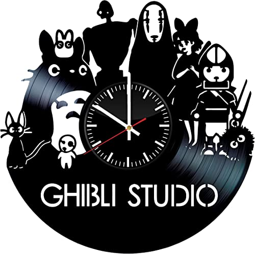 Ghibli Studio Vinyl Record Wall Clock .Get unique home room wall decor. Cool gift idea