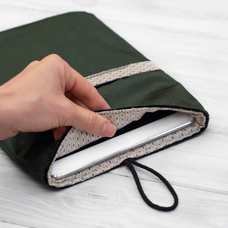 étui/housse/sleeve/pochette pour tablette NEW iPad Pro 11-inch, Air, Mini, 9.7 10,5 12.9 tissu VERT velours