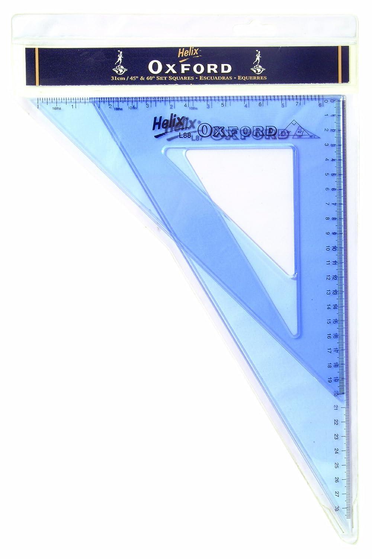 Helix Oxford - Set di squadre da 31cm, 45/60° Helix Trading Ltd R36011