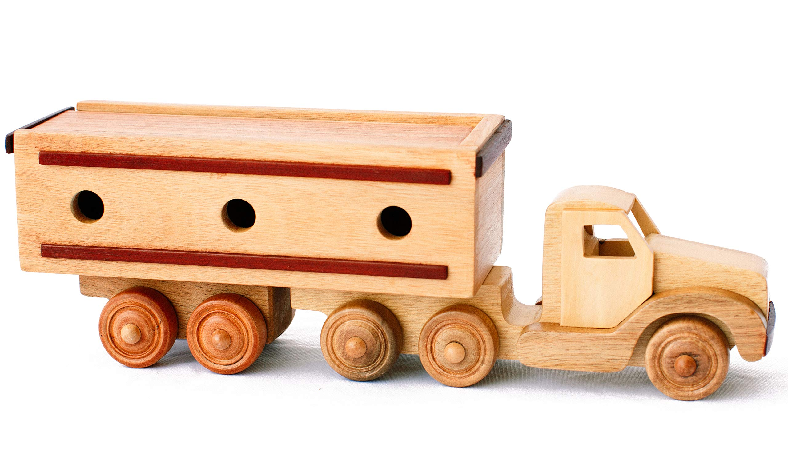 Hajito Wooden Container Car Toy, Push Toys, Wooden Toddler Toys