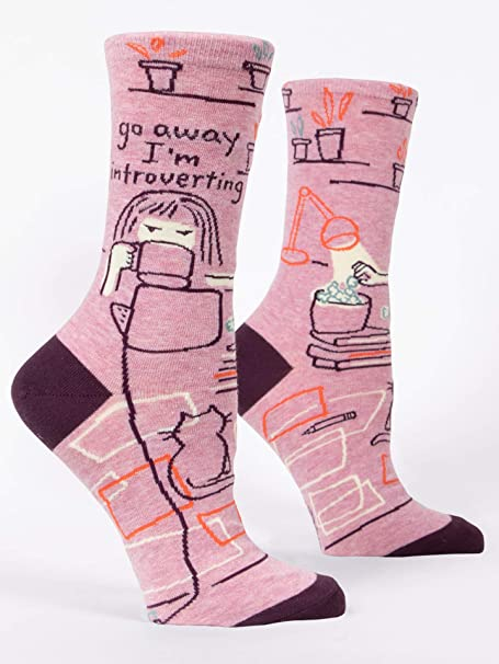 """Blue Q - Calcetines - para Mujer: """"Go Away Introverting"""""""