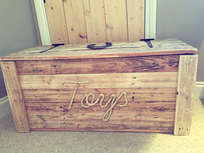 Reclaimed Wood Toy Chest Amazon Co Uk Handmade