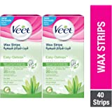 Veet Coldwax Strips Dry 20 Counts - Pack Of 2 at 20% Off