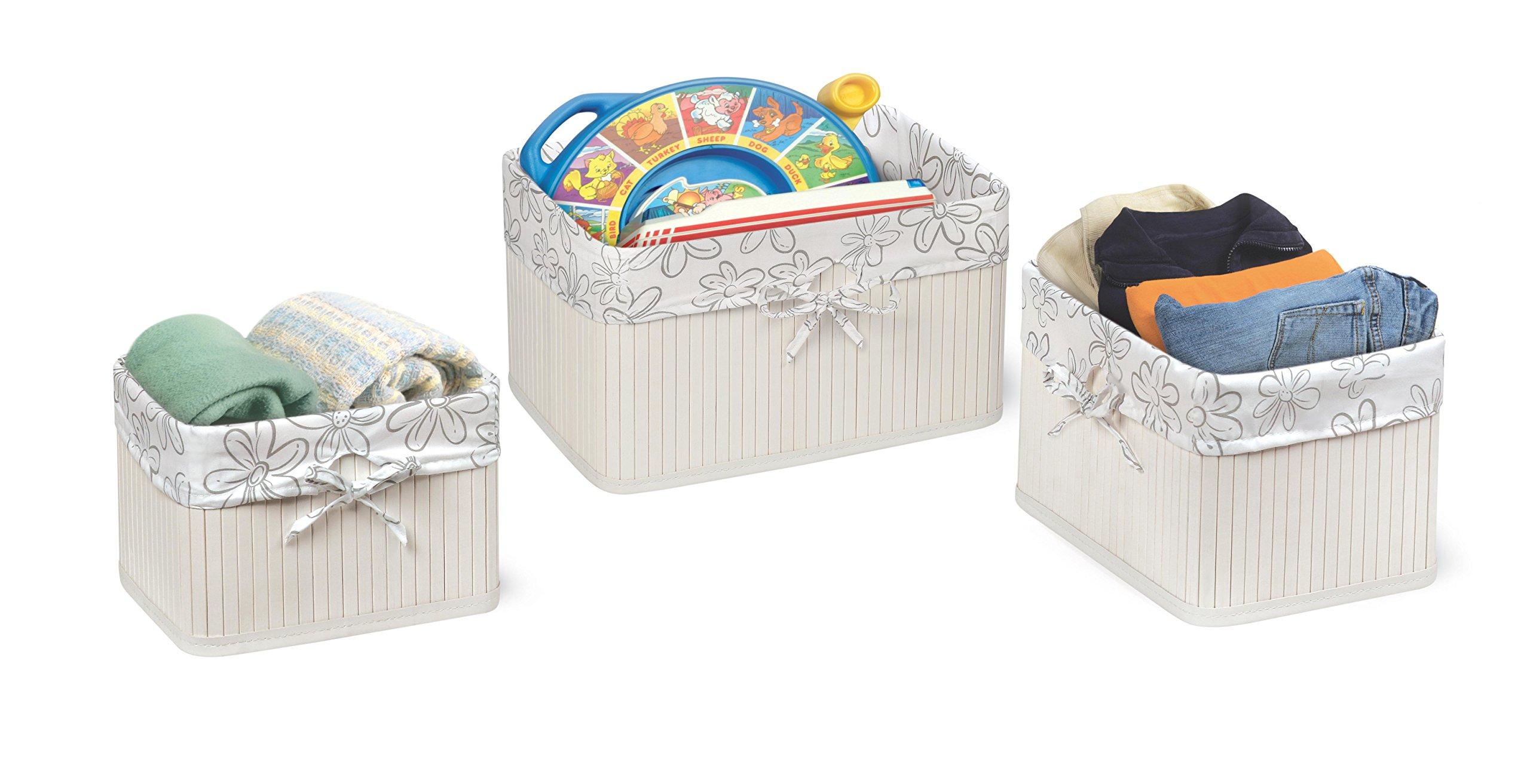 Badger Basket Claremont Three Basket Set, White by Badger Basket (Image #1)